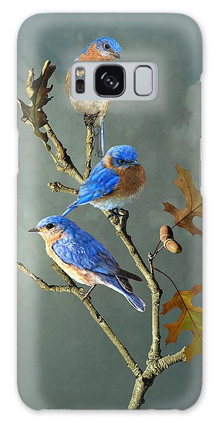 Nothing But Bluebirds Galaxy Case
