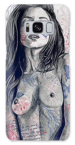 Beautiful Girl Galaxy Case - Nothing Violates This Nature - Blue by Marco Paludet