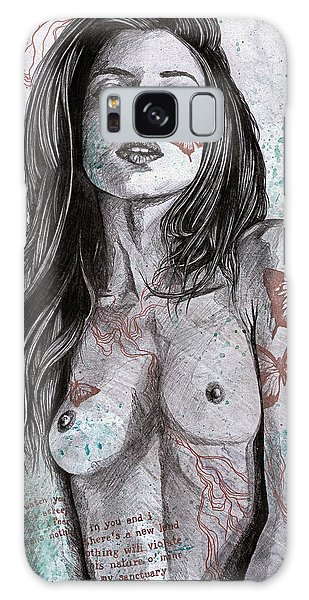Beautiful Girl Galaxy Case - Nothing Violates This Nature by Marco Paludet