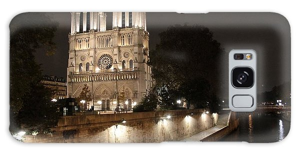 Notre Dame Cathedral From Petit Pont Galaxy Case