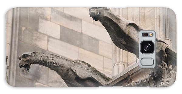 Notre Dame Cathedral Gargoyles Galaxy Case by Christopher Kirby