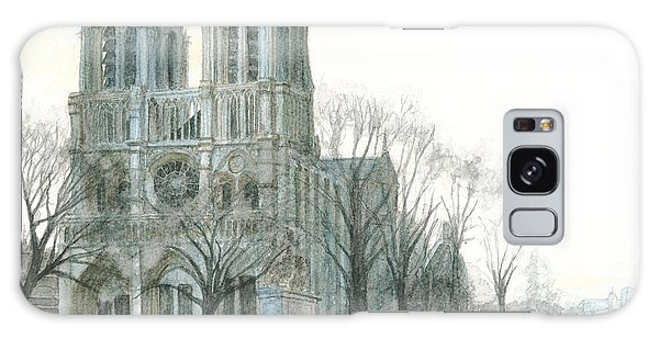 Notre Dame Cathedral In March Galaxy Case