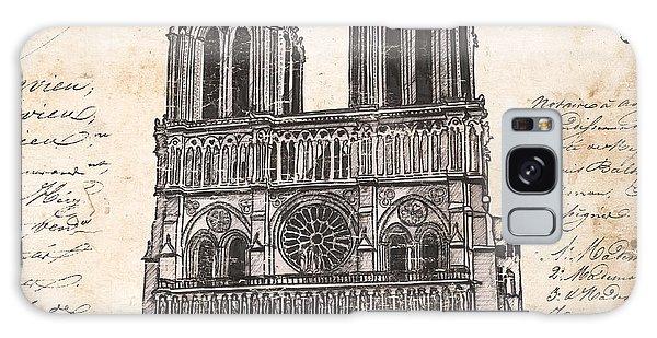 Notre Dame Galaxy Case - Notre Dame De Paris by Debbie DeWitt