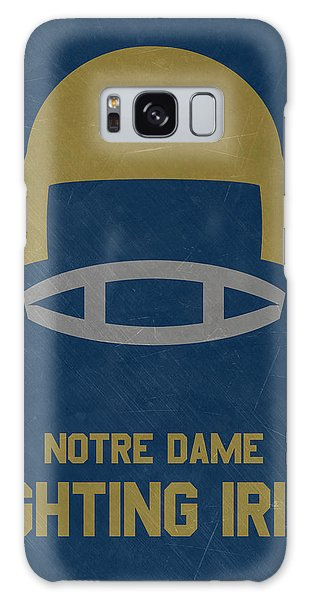 March Galaxy Case - Notre Dame Fighting Irish Vintage Football Art by Joe Hamilton