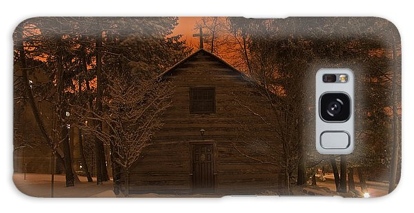 Notre Dame Log Chapel Winter Night Galaxy Case