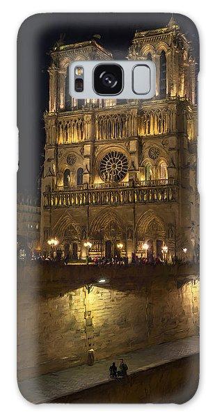 Notre Dame Night Painterly Galaxy Case