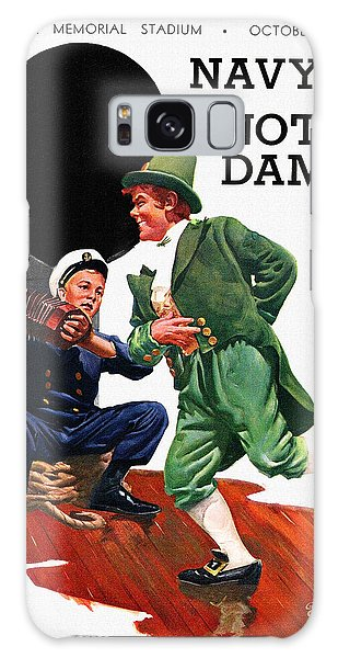 Notre Dame Galaxy Case - Notre Dame V Navy 1954 Vintage Program by John Farr