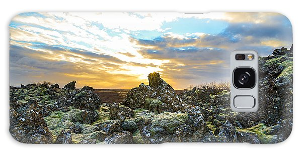November Light Over Icelandic Lava Field Galaxy Case
