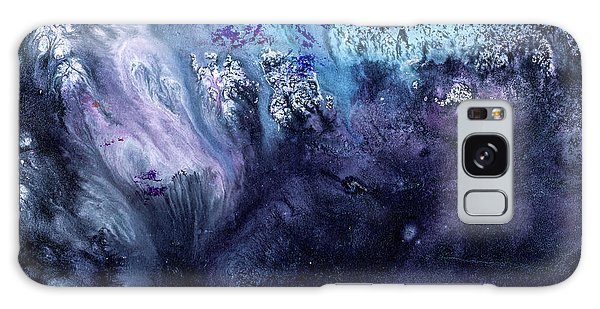 November Rain - Contemporary Blue Abstract Painting Galaxy Case