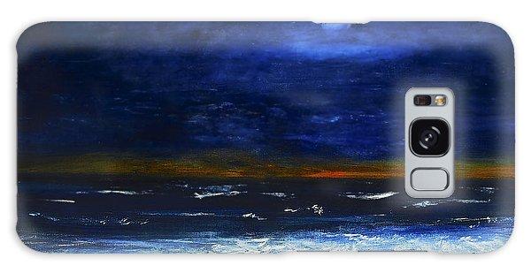 November Sunset At The Beach Galaxy Case