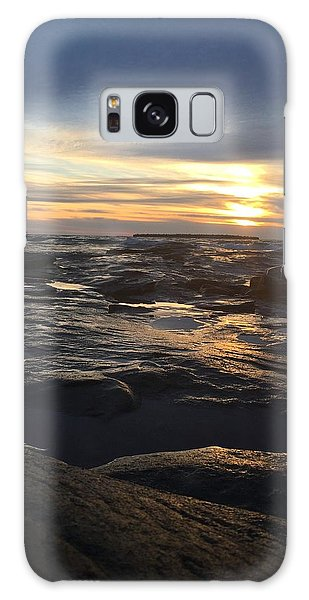 November Sunset On Lake Superior Galaxy Case