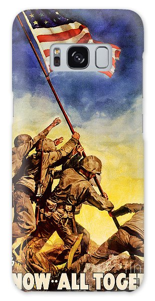 Now All Together Vintage War Poster Restored Galaxy Case