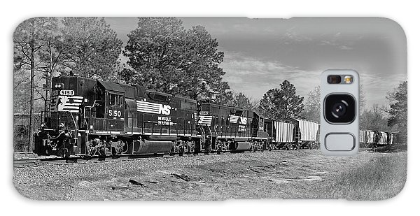 Norfolk Southern P77 In Black And White Galaxy Case