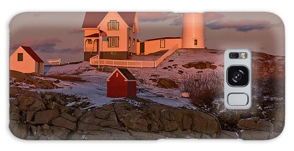 Nubble Light At Sunset Galaxy Case