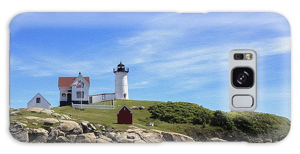 Nubble Light House Galaxy Case