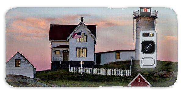 Nubble Lighthouse At Dusk  Galaxy Case