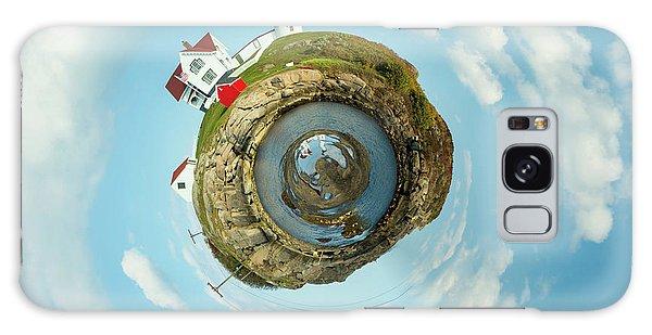 Otter Rock Galaxy Case - Nubble Lighthouse Little Planet  by Emmanuel Panagiotakis