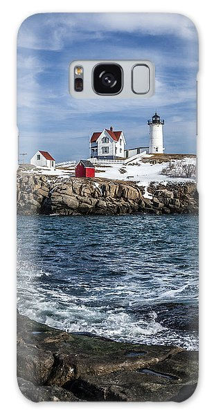 Nubble Lighthouse Winter Galaxy Case