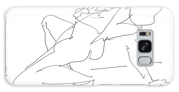 Nude-female-drawing-17 Galaxy Case