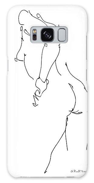 Nude Female Drawings 11 Galaxy Case