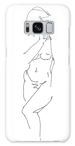 Nude Female Drawings 18 Galaxy Case
