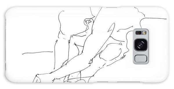 Nude Male Drawings 8 Galaxy Case