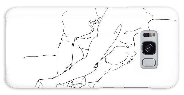 Nude Male Drawings 8 Galaxy Case