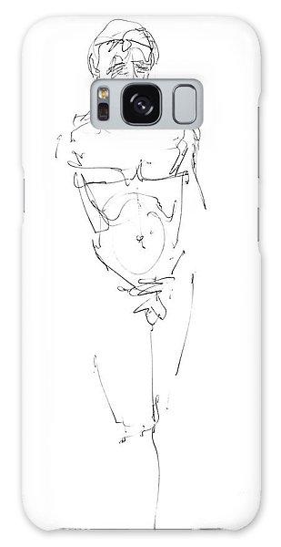Nude Male Drawings 9 Galaxy Case