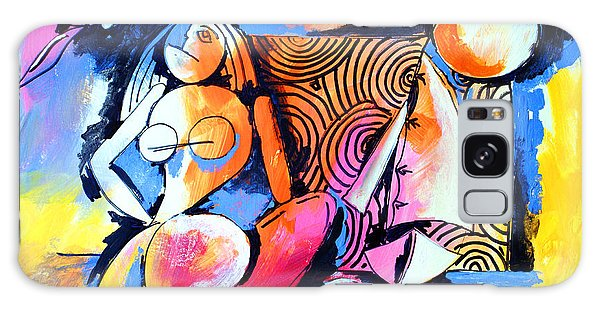 Nude Woman And Sailboat Galaxy Case