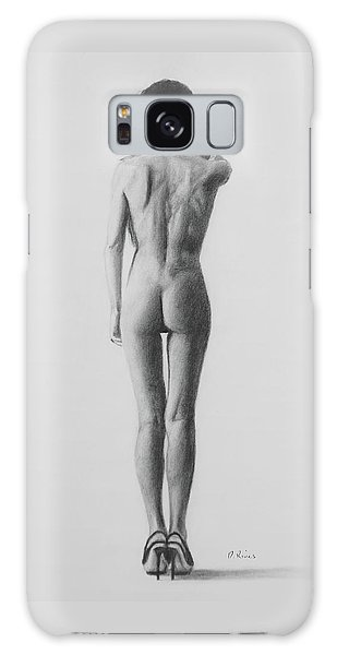 Nude Woman In High Heels Drawing Galaxy Case