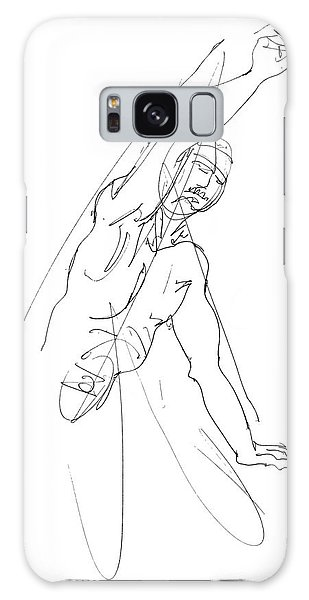 Nude_male_drawing_25 Galaxy Case