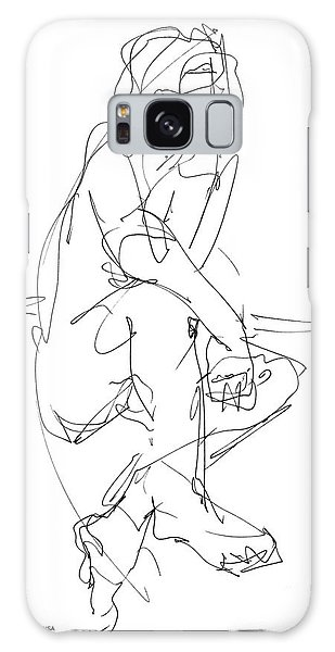 Nude_male_drawing_29 Galaxy Case