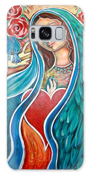 Bluebird Galaxy S8 Case - Nuestra Senora Maestosa by Shiloh Sophia McCloud