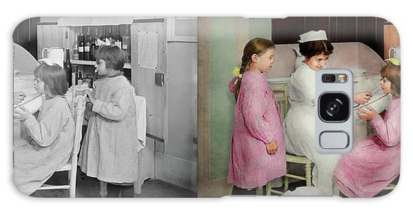 Galaxy Case featuring the photograph Nurse - Playing Nurse 1918 - Side By Side by Mike Savad