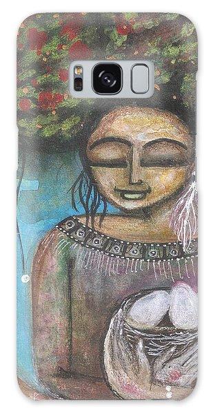 Galaxy Case featuring the mixed media Nurture Nature by Prerna Poojara