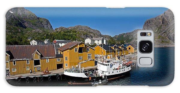 Nusfjord Fishing Village Galaxy Case