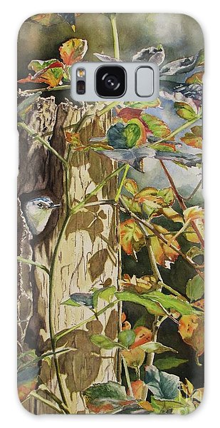 Nuthatch And Creeper Galaxy Case