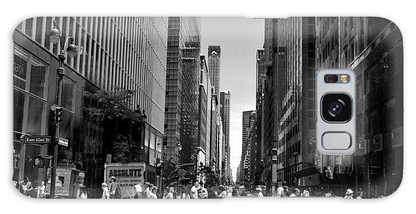 Nyc 42nd Street Crosswalk Galaxy Case