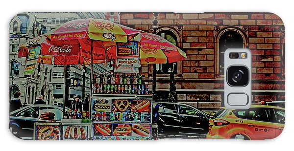 New York City Food Cart Galaxy Case by Sandy Moulder