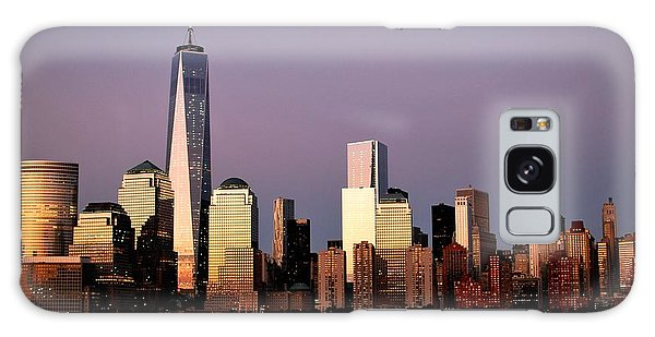 Nyc Skyline At Dusk Galaxy Case