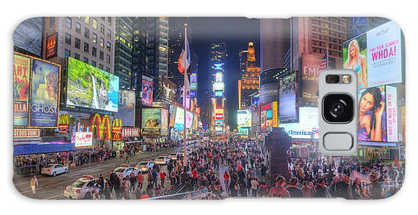 Nyc Times Square Panorama Galaxy Case
