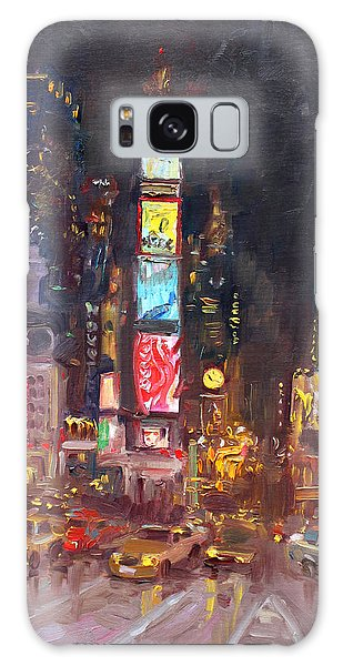 Nyc Times Square Galaxy Case by Ylli Haruni