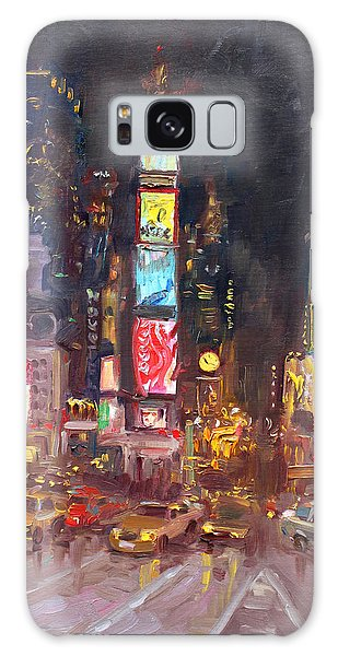 Times Square Galaxy Case - Nyc Times Square by Ylli Haruni