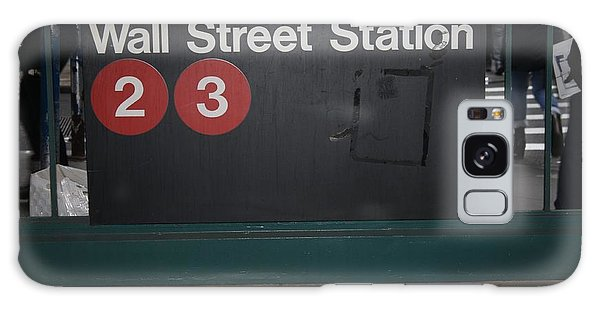 Nyc Wall Street Subway Entrance Galaxy Case