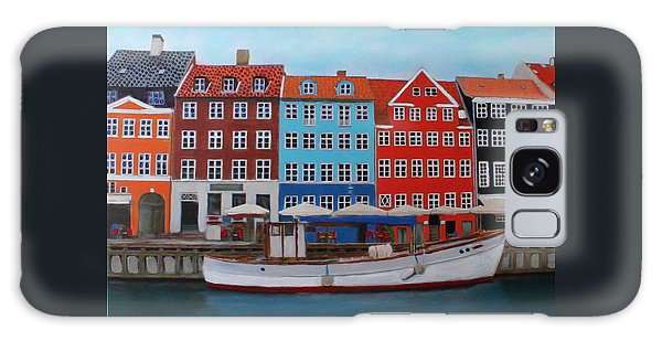 Galaxy Case featuring the painting Nyhavn Copenhagen by Deborah Boyd
