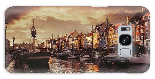 Nyhavn Sunset Copenhagen Galaxy Case by Carol Japp