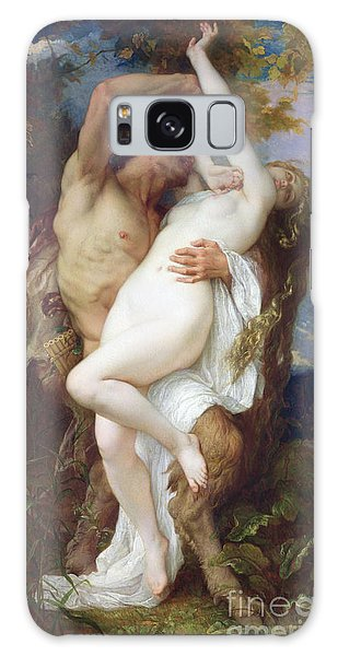 Mythological Galaxy Case - Nymph Abducted By A Faun by Alexandre Cabanel