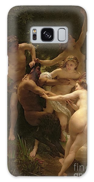 Breast Galaxy Case - Nymphs And Satyr by William Adolphe Bouguereau