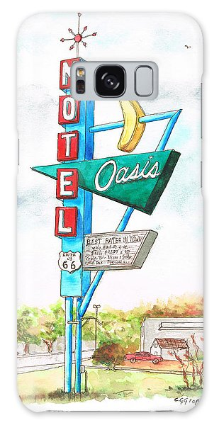 Oasis Motel In Route 66, Tulsa, Texas Galaxy Case by Carlos G Groppa