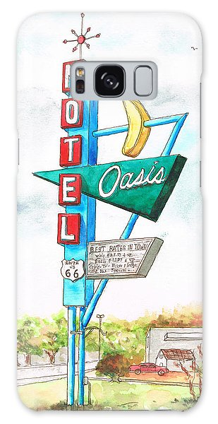 Oasis Motel In Route 66, Tulsa, Texas Galaxy Case